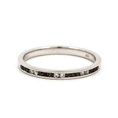 Noir 9ct White Gold Black Diamond Eternity Ring image 0