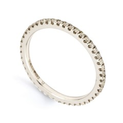 Serenity Platinum 950 Pave Set Full Eternity Ring image 1