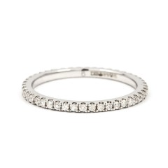 Serenity Platinum 950 Pave Set Full Eternity Ring image 0