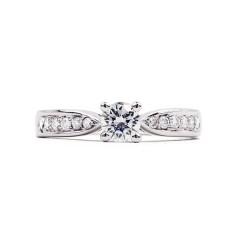 Vintage 18ct White Gold GIA Diamond Engagement Ring image 0