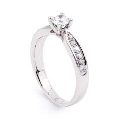 Vintage 18ct White Gold GIA Diamond Engagement Ring image 1