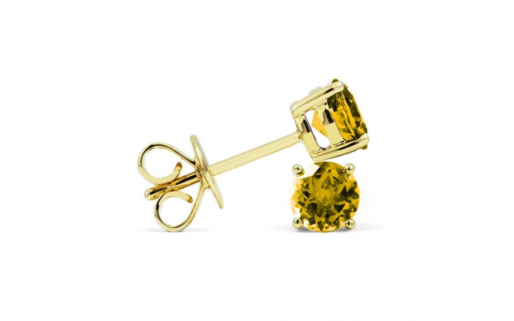 Classic 18ct Yellow Gold Natural Solitaire Citrine Earrings product image 2