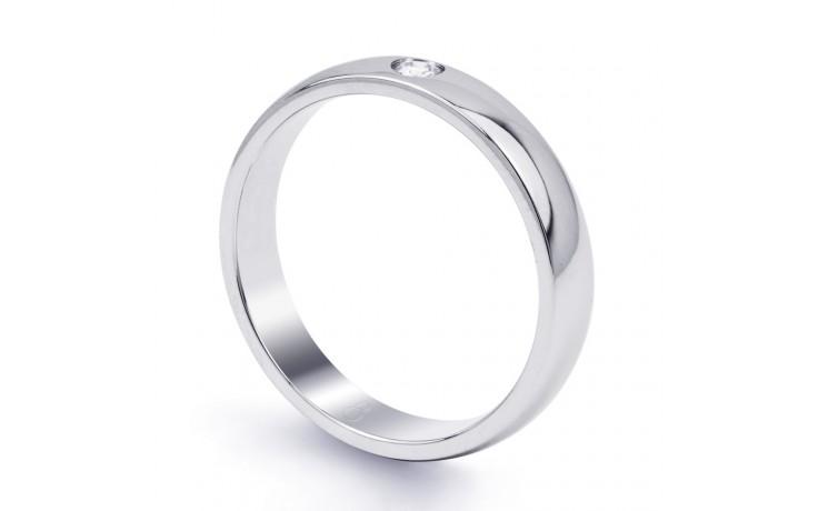 4mm Single Diamond Wedding Band Court product image 2