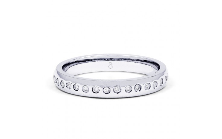 Wedding Band Court 18ct White Gold in 3mm Profile product image 1