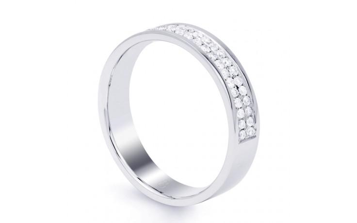 4.5mm Wedding Band 18ct White Gold Flat Court 0.5ct product image 2