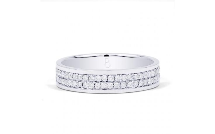 4.5mm Wedding Band 18ct White Gold Flat Court 0.5ct product image 1