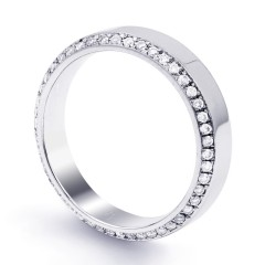 Wedding Band Flat Court 18ct White Gold Flat Court H SI image 1