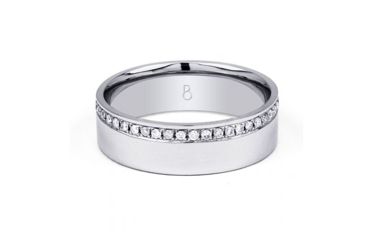 18ct White Gold Men's Diamond Set Wedding Band 0.2ct product image 1