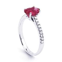 Arya 9ct White Gold Pink Tourmaline Engagement Ring image 1