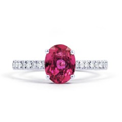 Arya 9ct White Gold Pink Tourmaline Engagement Ring image 1