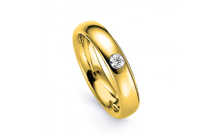 Men's Diamond Wedding Band Court 18ct Yellow Gold Court H SI product image 1