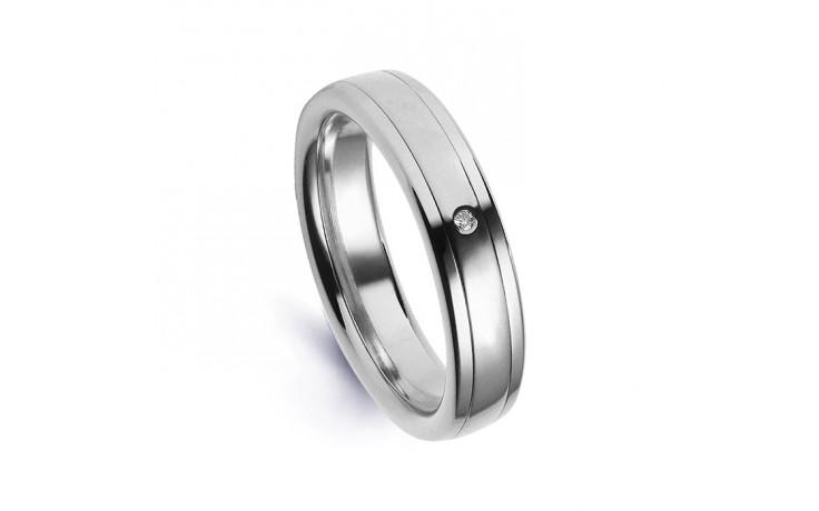 Platinum 950 5.5mm Men's Diamond Wedding Band Flat Court G VS product image 1