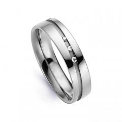 5.5mm Men's Diamond Wedding Band 18ct White Gold Court 0.045ct image 0