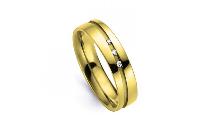 Men's Diamond Wedding Band Flat Court 18ct Yellow Gold Flat Court H SI product image 1