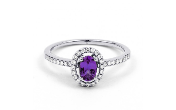 Allure Amethyst Pave Ring product image 1