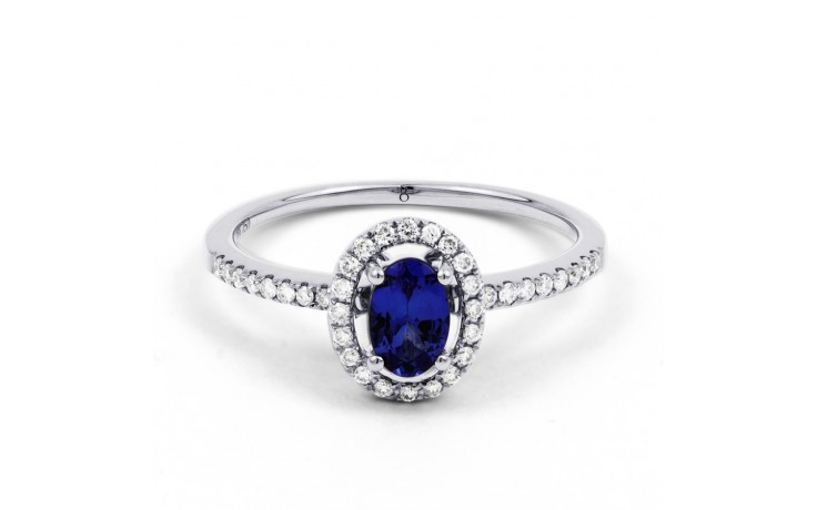 Allure Blue Sapphire Pave Ring product image 1