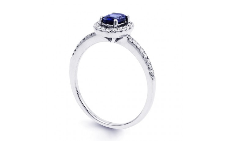 Allure Blue Sapphire Pave Ring product image 2