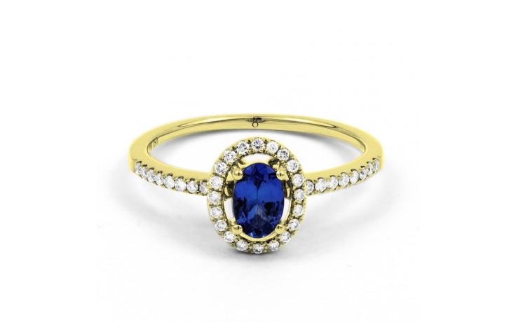 Tanzanite Pave Gold Ring product image 1