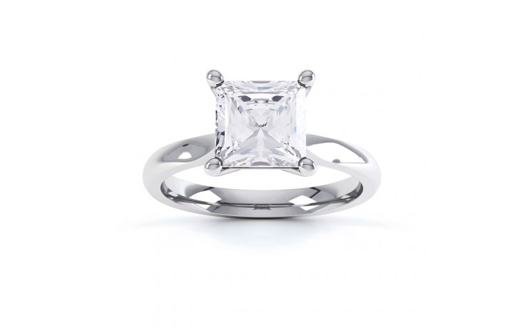 GIA 0.40ct Princess Cut Diamond Engagement Ring in Platinum product image 1