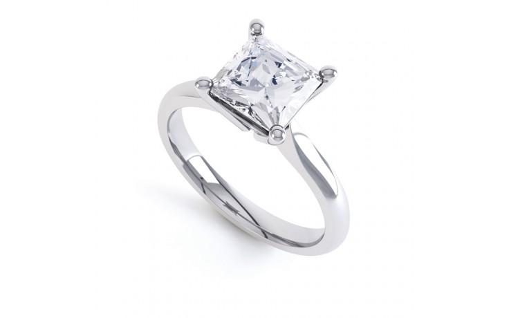 GIA 0.40ct Princess Cut Diamond Engagement Ring in Platinum product image 2