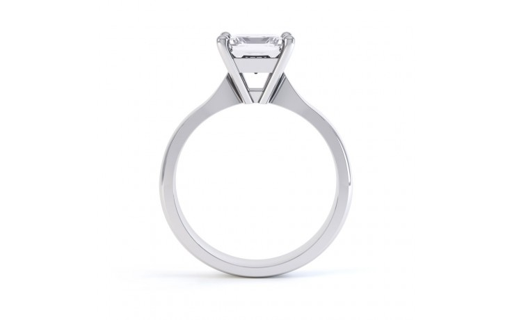 GIA 0.50ct Princess Cut Diamond Solitaire Engagement Ring product image 3