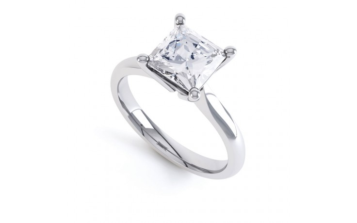 GIA 0.50ct Princess Cut Diamond Solitaire Engagement Ring product image 2