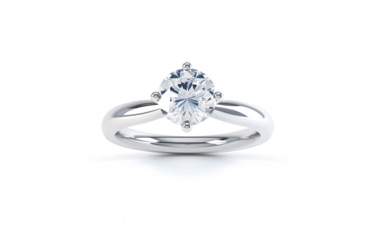 GIA Round Solitaire Engagement Ring 0.30ct 1.5mm Band product image 1