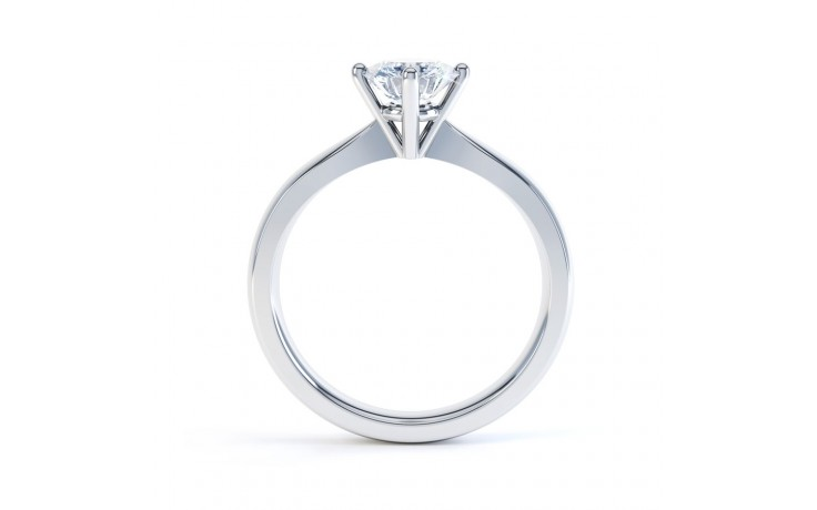 GIA Round Solitaire Engagement Ring 0.30ct 1.5mm Band product image 3