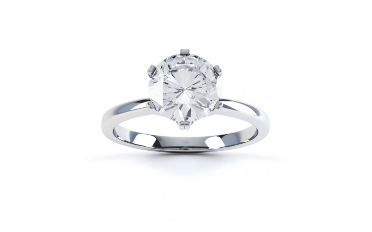 G VVS1 Solitaire Engagement Ring in Platinum GIA product image 1