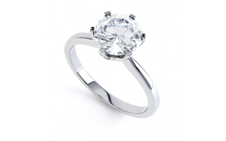 G VVS1 Solitaire Engagement Ring in Platinum GIA product image 2