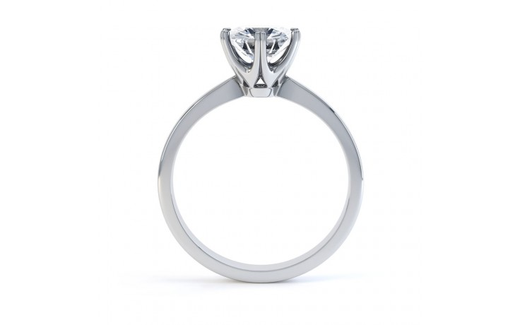 G VVS1 Solitaire Engagement Ring in Platinum GIA product image 3