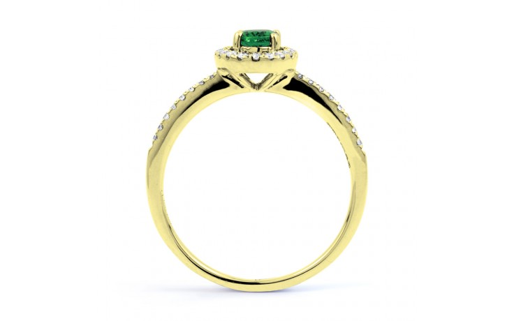 Allure Pave Emerald Gold Ring product image 3