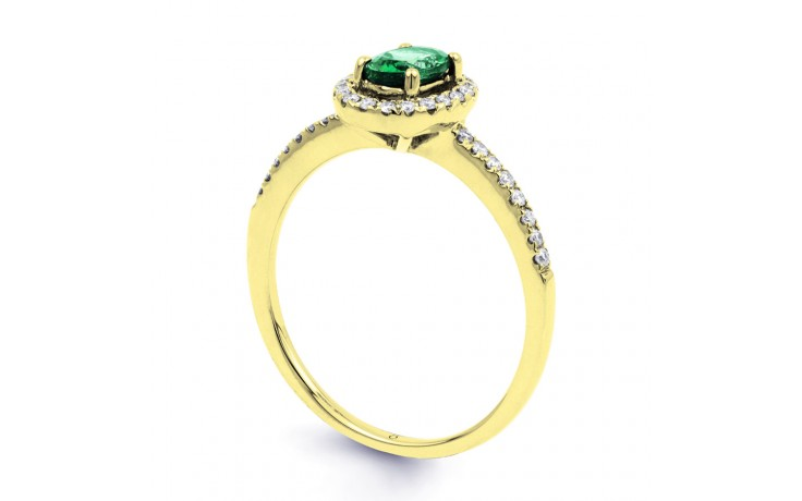 Allure Pave Emerald Gold Ring product image 2