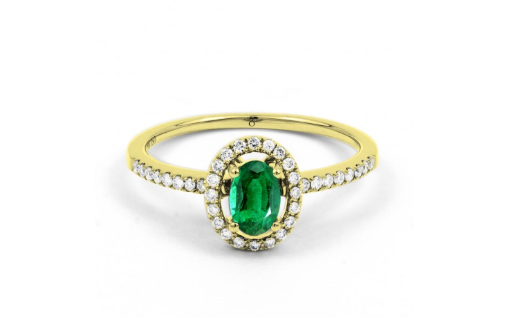 Allure Pave Emerald Gold Ring product image 1