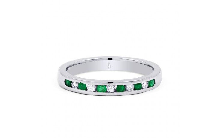 Amor Emerald Channel Set Eternity Ring product image 1