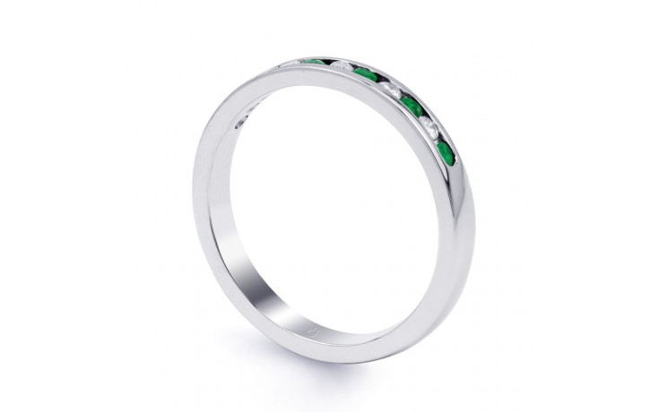 Amor Emerald Channel Set Eternity Ring product image 3