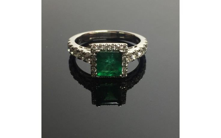 Emerald & Diamond Engagement Ring product image 1
