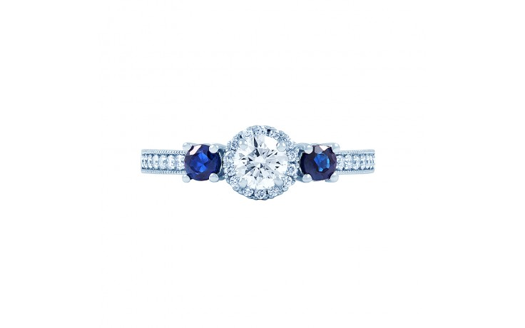 Diamond & Blue Sapphire Engagement Ring product image 1