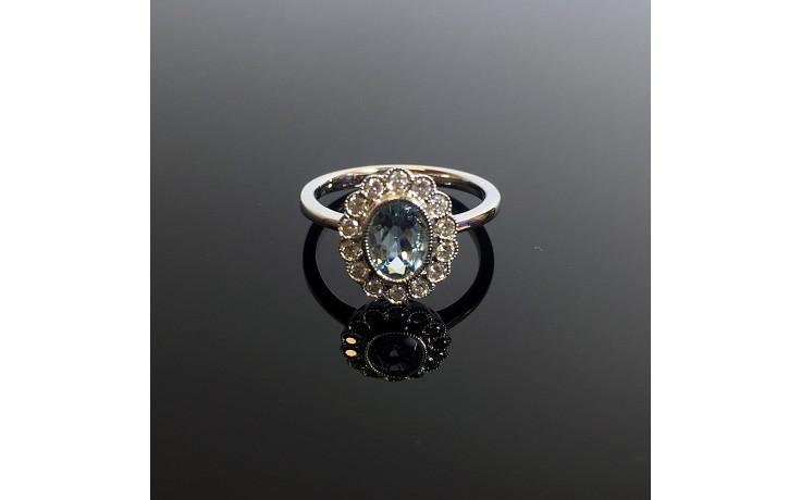 Rococo Aquamarine & Diamond Engagement Ring product image 1
