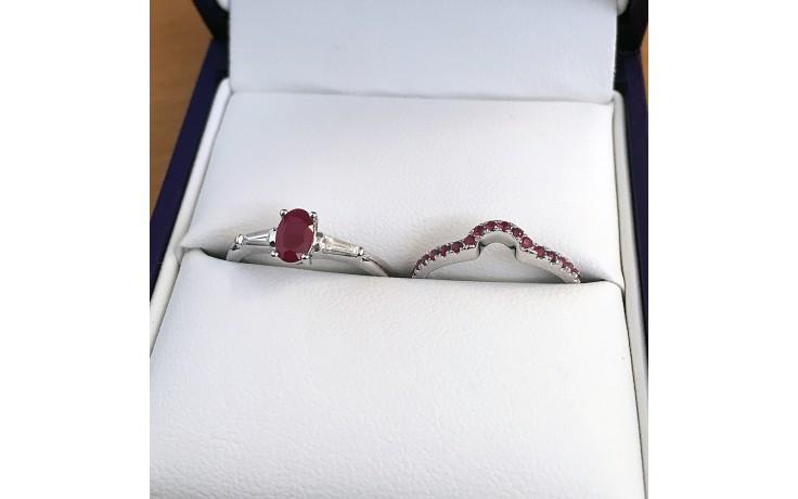 Ruby Bridal Ring Set product image 1