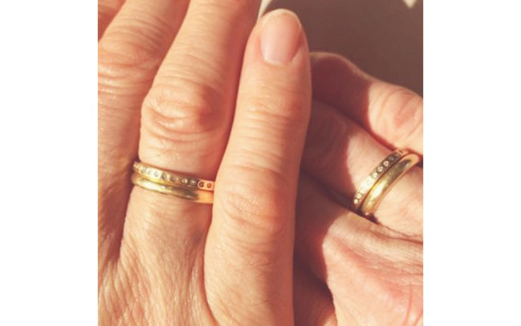 Yellow Gold & Diamond Couple Wedding Rings product image 1