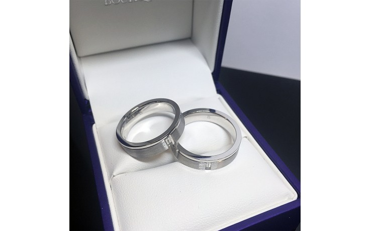 White Gold Couple Wedding Rings product image 1