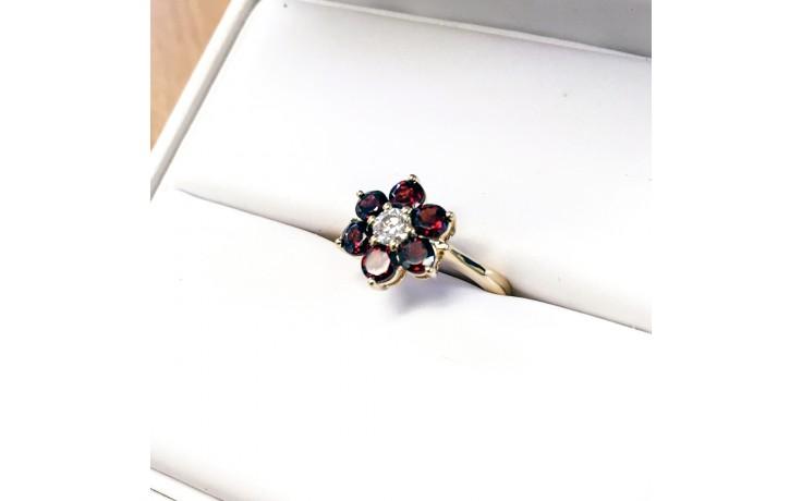 Garnet Floral Ring  product image 1