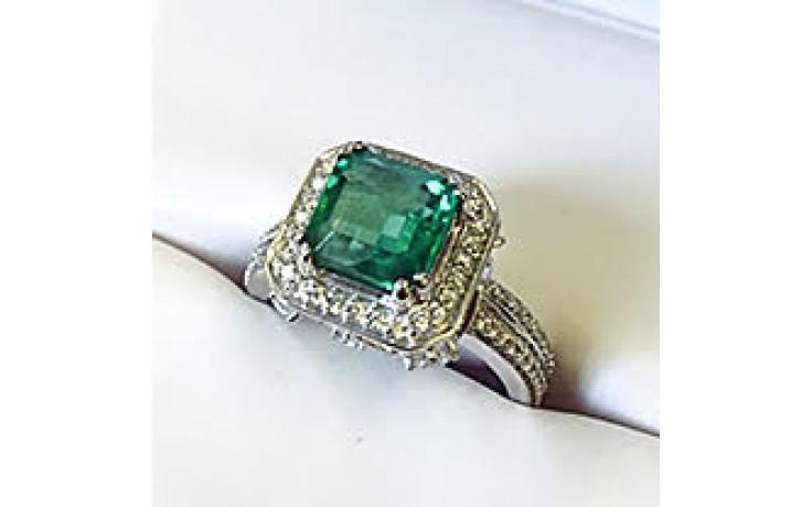 Vintage Emerald Halo Engagement Ring  product image 1