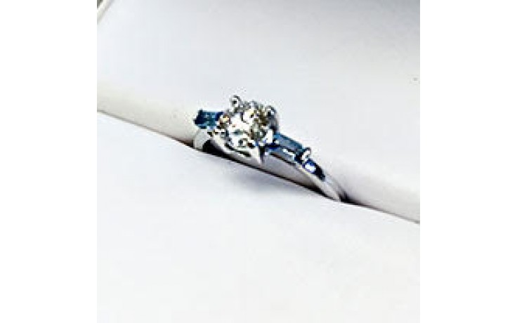 Blue Topaz 3 Stone Ring  product image 1