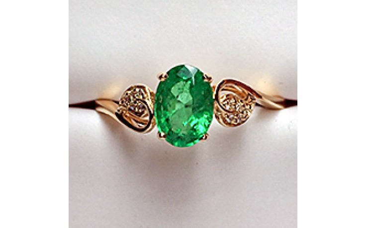 Yellow Gold Emerald Engagement Ring product image 1