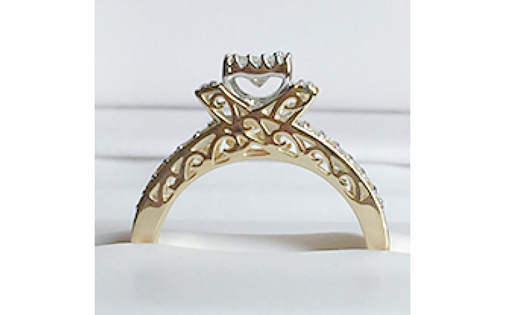 Yellow Gold Diamond Engagement Ring  product image 1