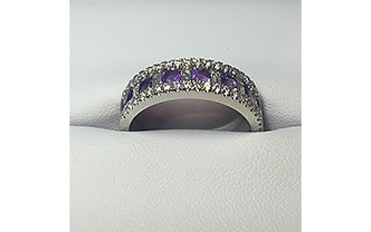 Zambian Amethyst Eternity Ring  product image 1