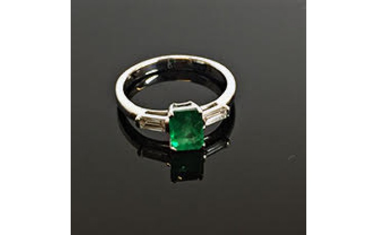 Emerald Birthstone Engagement Ring  product image 1
