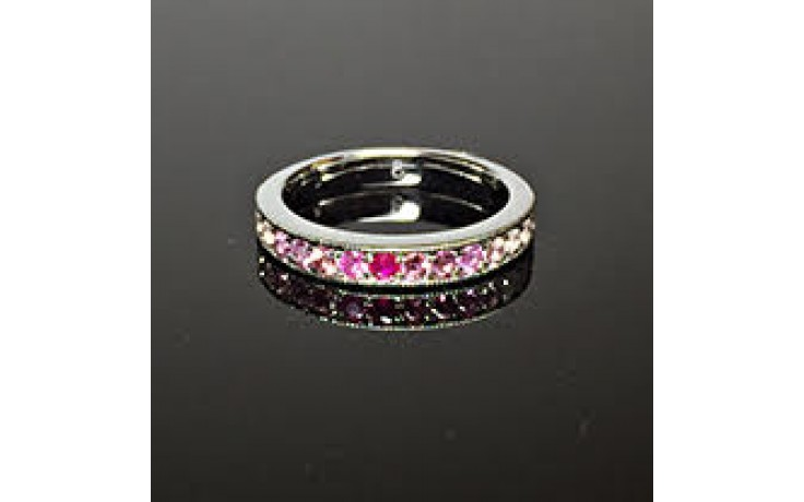 Pink Gemstone Eternity Ring  product image 1